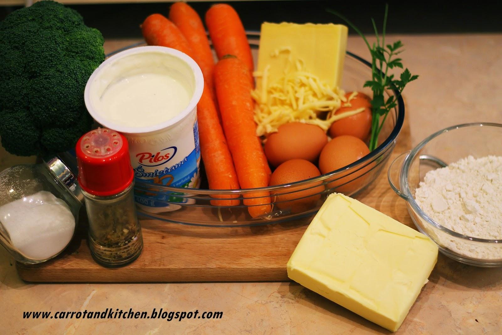 Tarta brokułowo-marchewkowa
