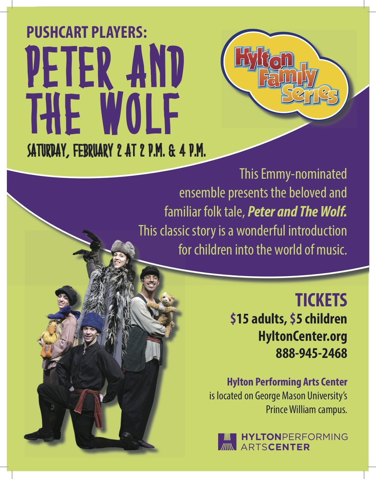 Giveaway Peter And The Wolf At The Hylton Performing Arts