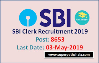 SBI Clerk 2019: Notification Out for 8653 Post