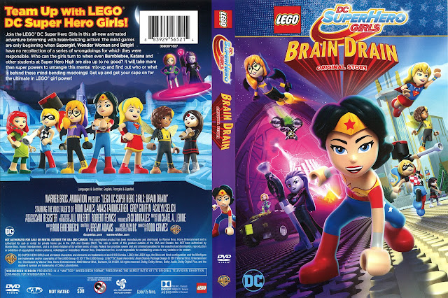 LEGO DC SuperHero Girls Brain Drain DVD Cover