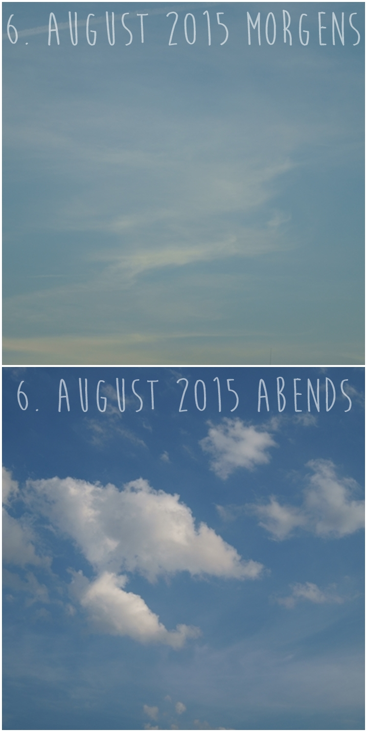 Blog & Fotografie by it's me! - Morgenhimmel und Abendhimmel am 6. August 2015
