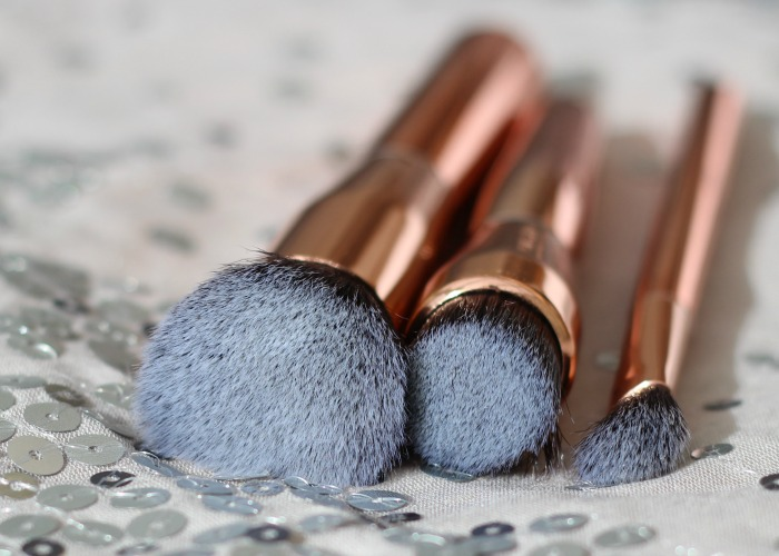 Makeup Revolution ultra sculpt & blend brushes - close up of bristles
