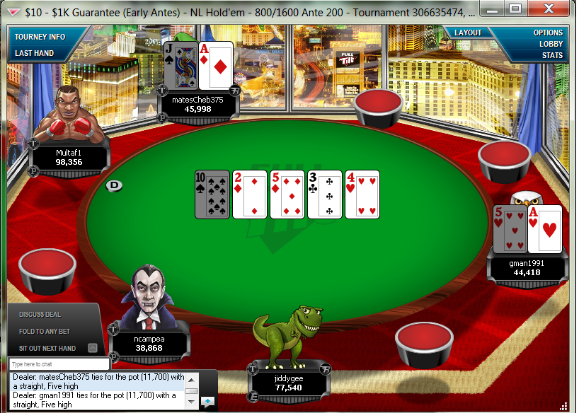 Poker fold check bet