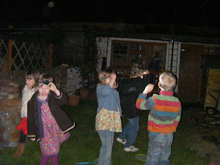 hunting for Santa Claus with head torches