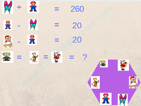 Math Equations Polygon Picture Puzzle