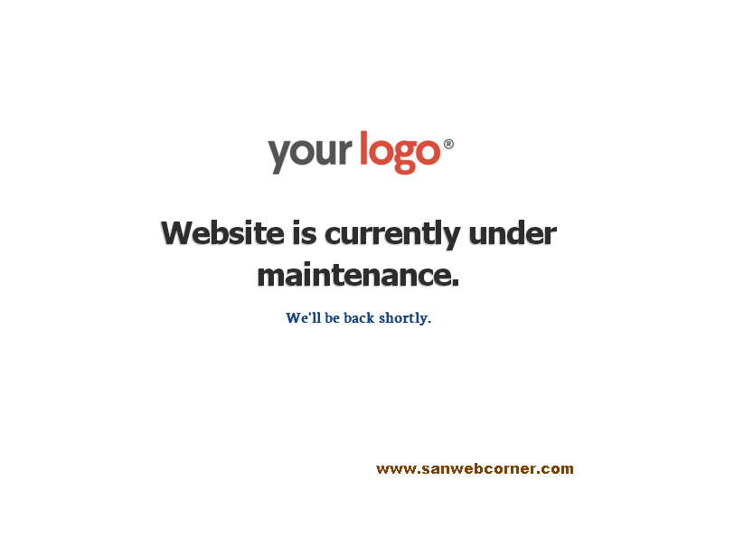 How to create simple maintenance page with the help of for Maintenance mode html template