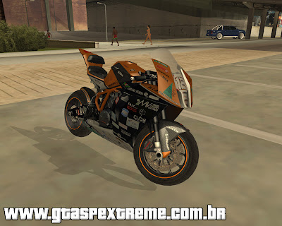 KTM 1190 RC8 R para grand theft auto