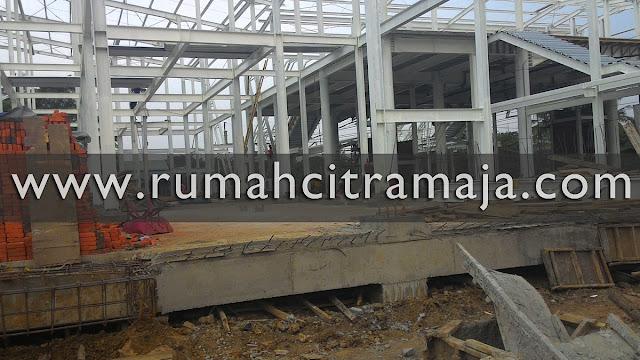 Konstruksi Pembangunan Stasiun Maja