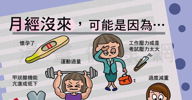 月經沒來好煩惱! 漫畫健康網