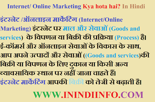 Internet Marketing Kya Hai?  Online marketing in Hindi