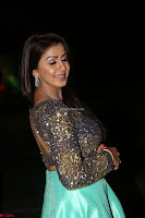 Nikki Galrani in Green Skirt  Top at Marakathamani music launch ~  Exclusive (111).JPG