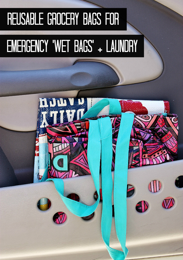 Car Hack: Reusable Bags For Wet And Dirty Clothes #RoadTripOil #AD