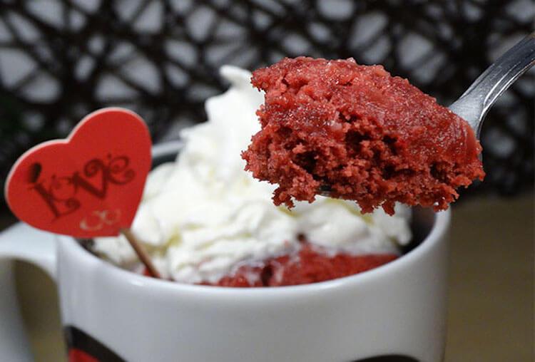 mug cake red velvet
