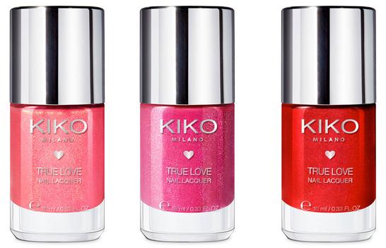 esmaltes de uñas Kiko Milano