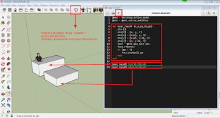 Skrip membuat face + pushpull - Ruby SketchUp Plugin