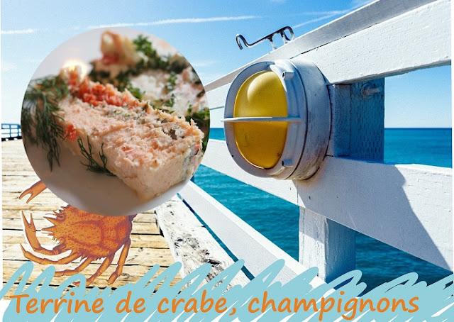terrine de crabe au velouté de champignons, fines herbes, sans gluten