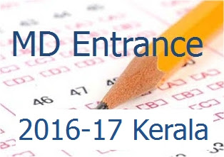 Entrance Examination 2016-17 for M D Homoeopathy Courses in Kerala