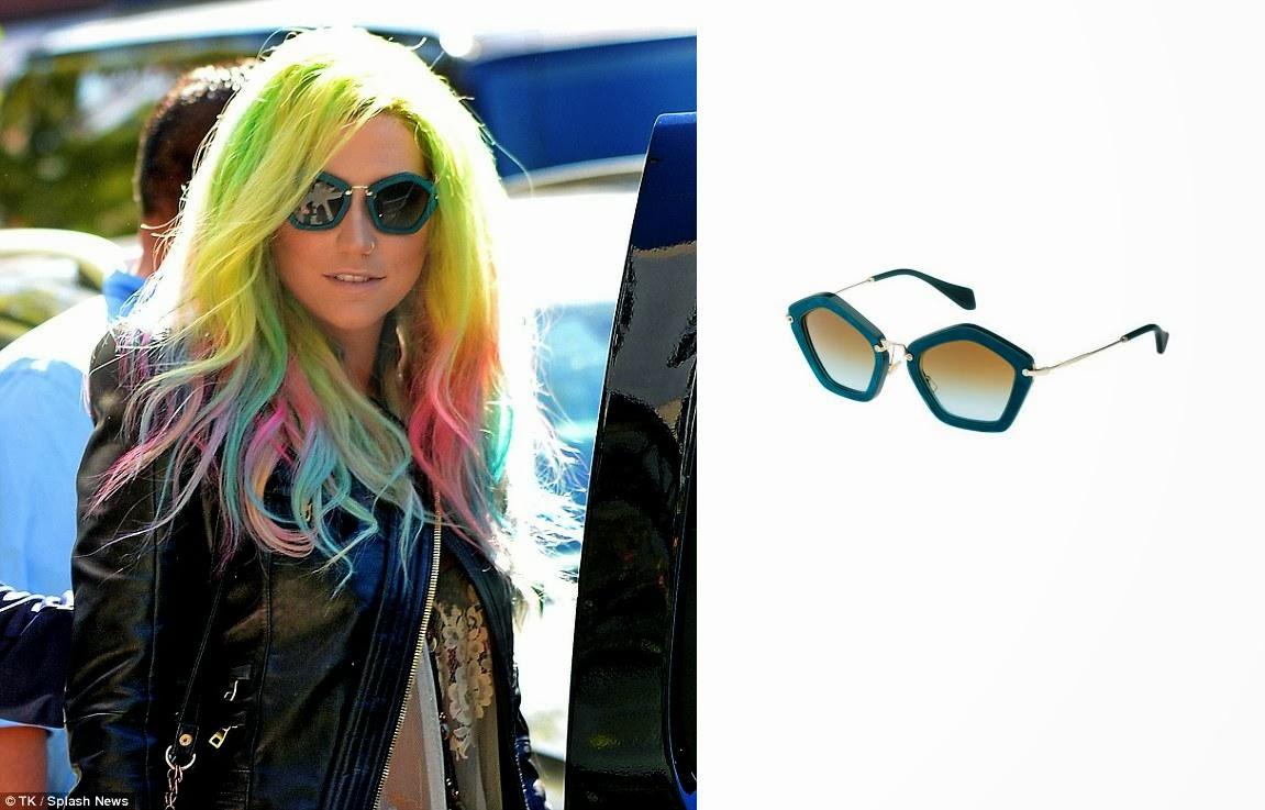 72d0aec8b097 The Passion for Fashion  Ke ha in Miu Miu Sunglasses
