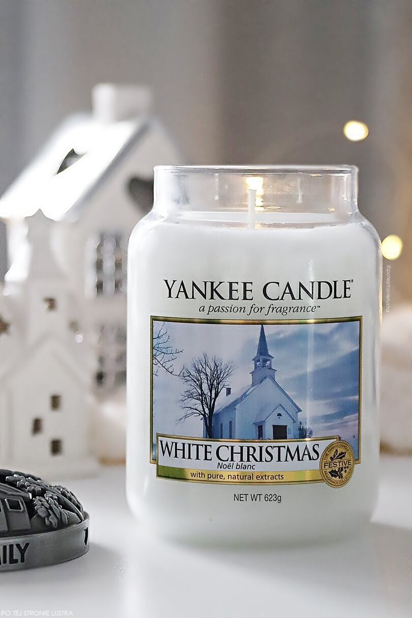 yankee candle white christmas duża świeca