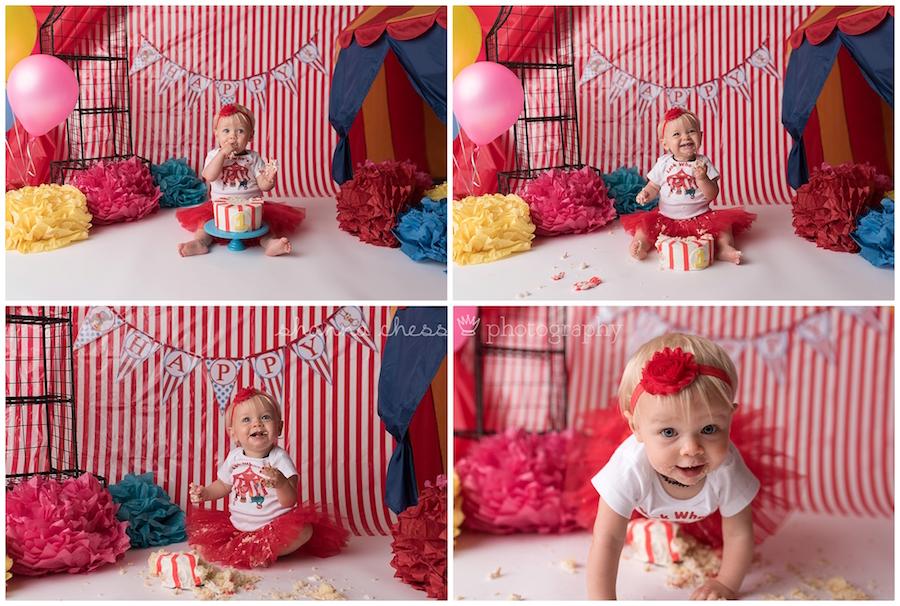 eugene oregon baby photography cake smash