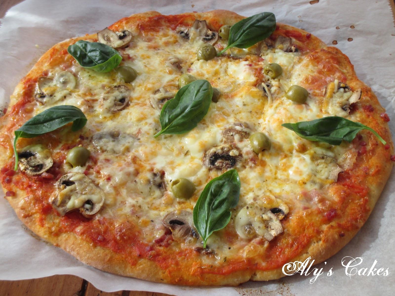 Aly S Cakes Pizza Con Harina De Garbanzo Y Como Congelar Masa