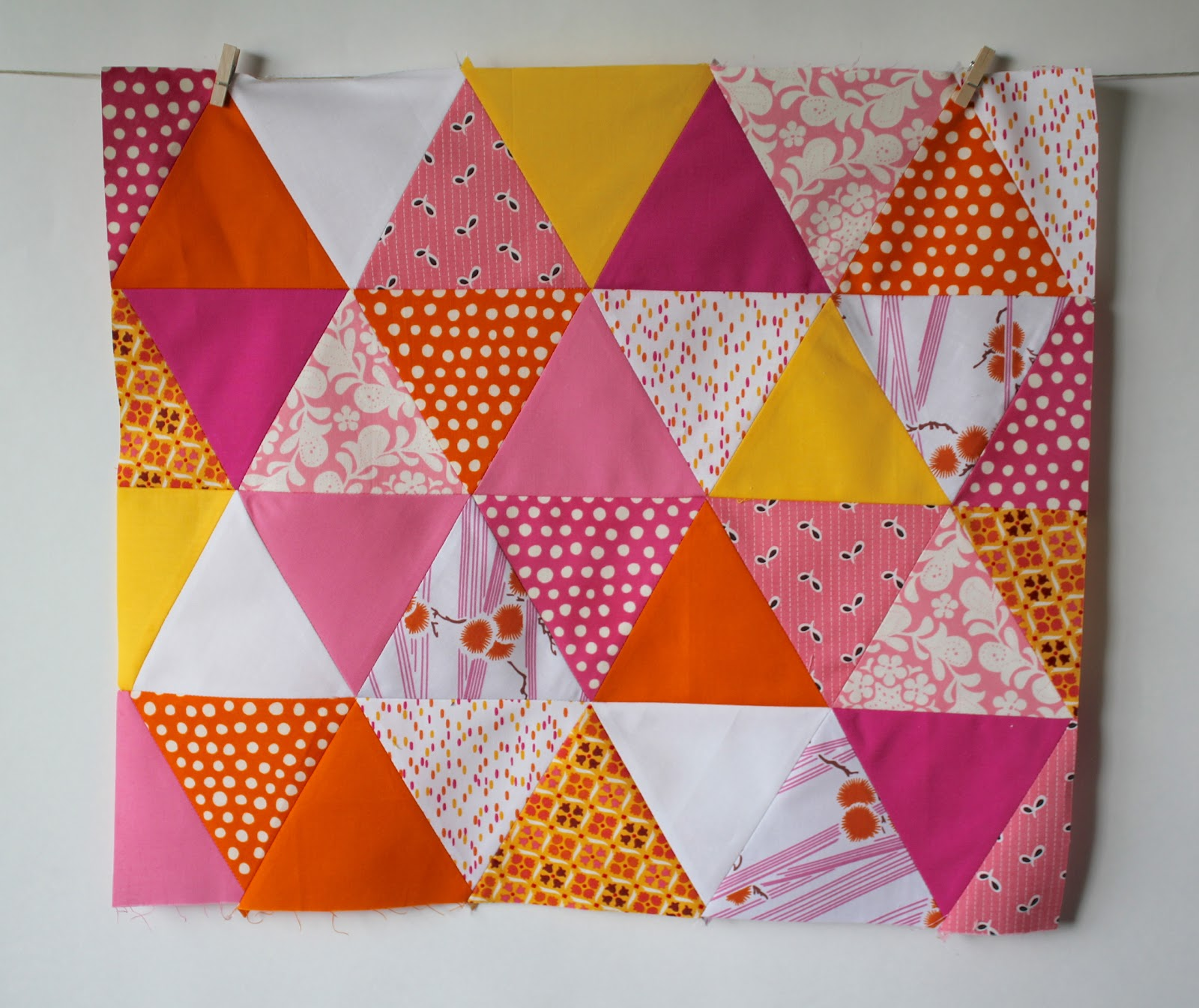 Frozen Knickers Diy 60 Degree Angle Triangle Quilt Tutorial