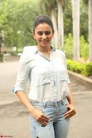 Rakul Preet Singh in Jeans and White Shirt At Jaya Janaki Nayaka le Logo Launch ~  Exclusive 074.JPG