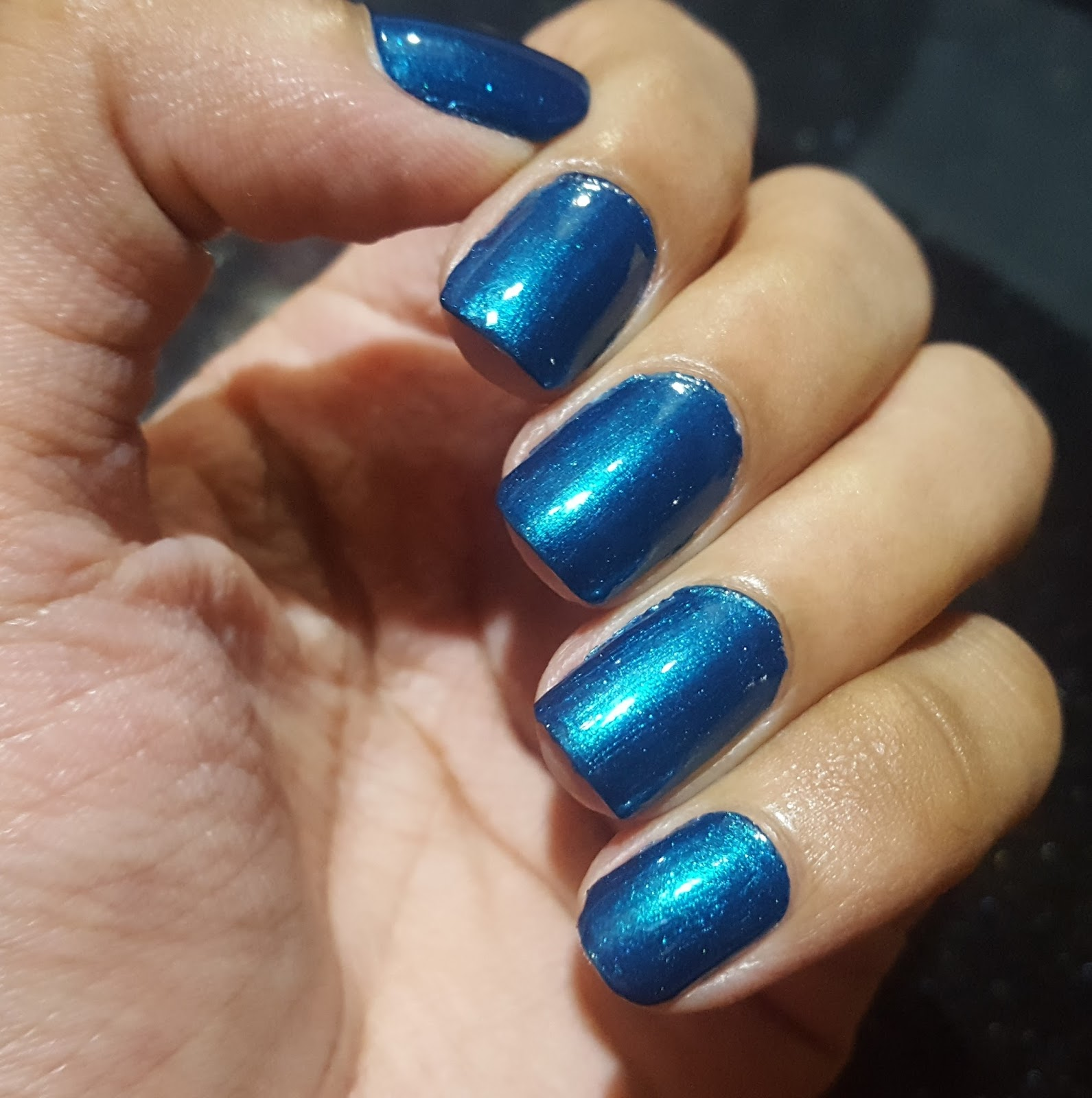 Ahoy! Nails!!: Colorbar Pro Nail Lacquer - Stark Blue 043 Swatch ...