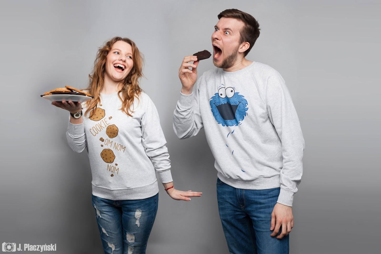 cookie monster bluzy dla par koszulove prezenty dla zakochanych dla dziewczyny dla chlopaka stylowe nadruki pomyslowe wzory