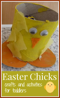 Easter Chicks crafts and activities for toddlers