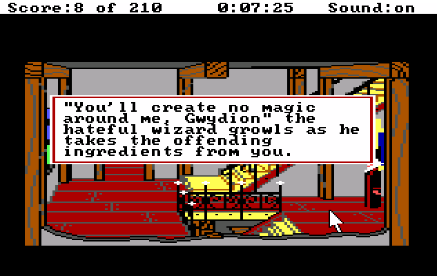 Screenshot from King's Quest III