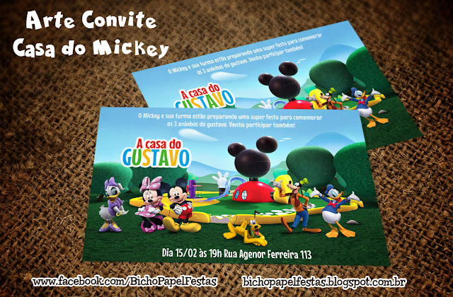 Convite A Casa do Mickey
