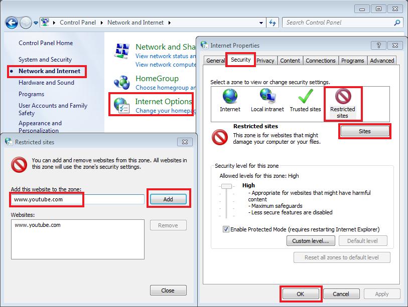Blokir Website Internet Explorer Windows