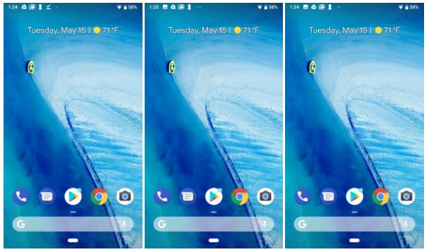 Android P is spotted to only shows four notifications icon at the top why Oreo shows more