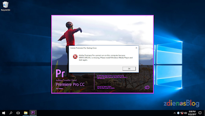 Fix Error WMVCORE.DLL is Missing pada Adobe Pro CC