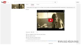 Pilih Embed lalu klik SHOW MORE untuk menampilkan Video