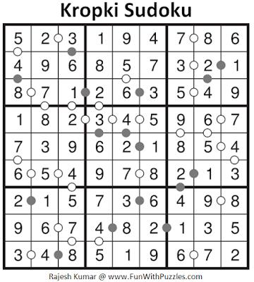 Answer of Kropki Sudoku Puzzle (Fun With Sudoku #323)