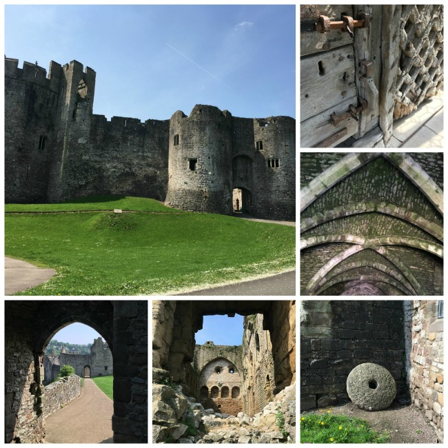 collage of pictures of the castle