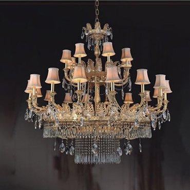 Gợi ý mẫu đèn chùm đồng phong cách cổ điển cho không gian ấn tượng độc đáo
