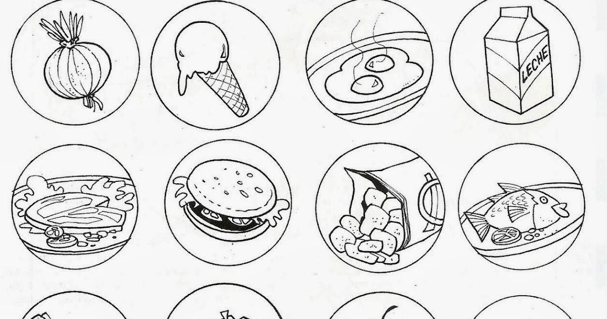 Pinto Dibujos Alimentos Saludables Y Alimentos Chatarra