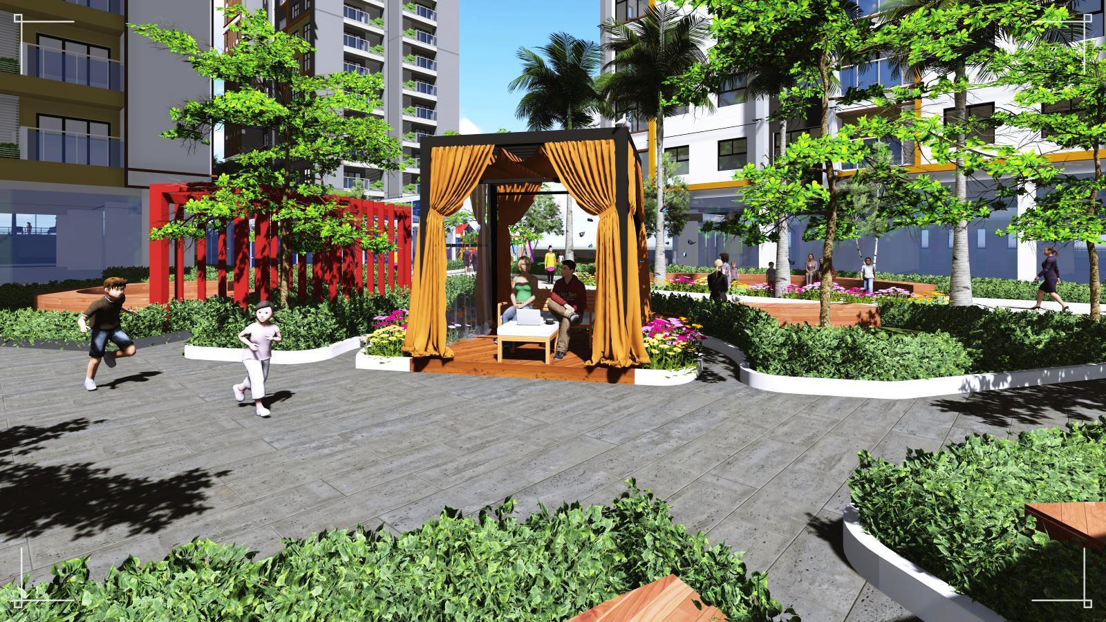 Không gian sống xanh dự án Alphanam Đà Nẵng