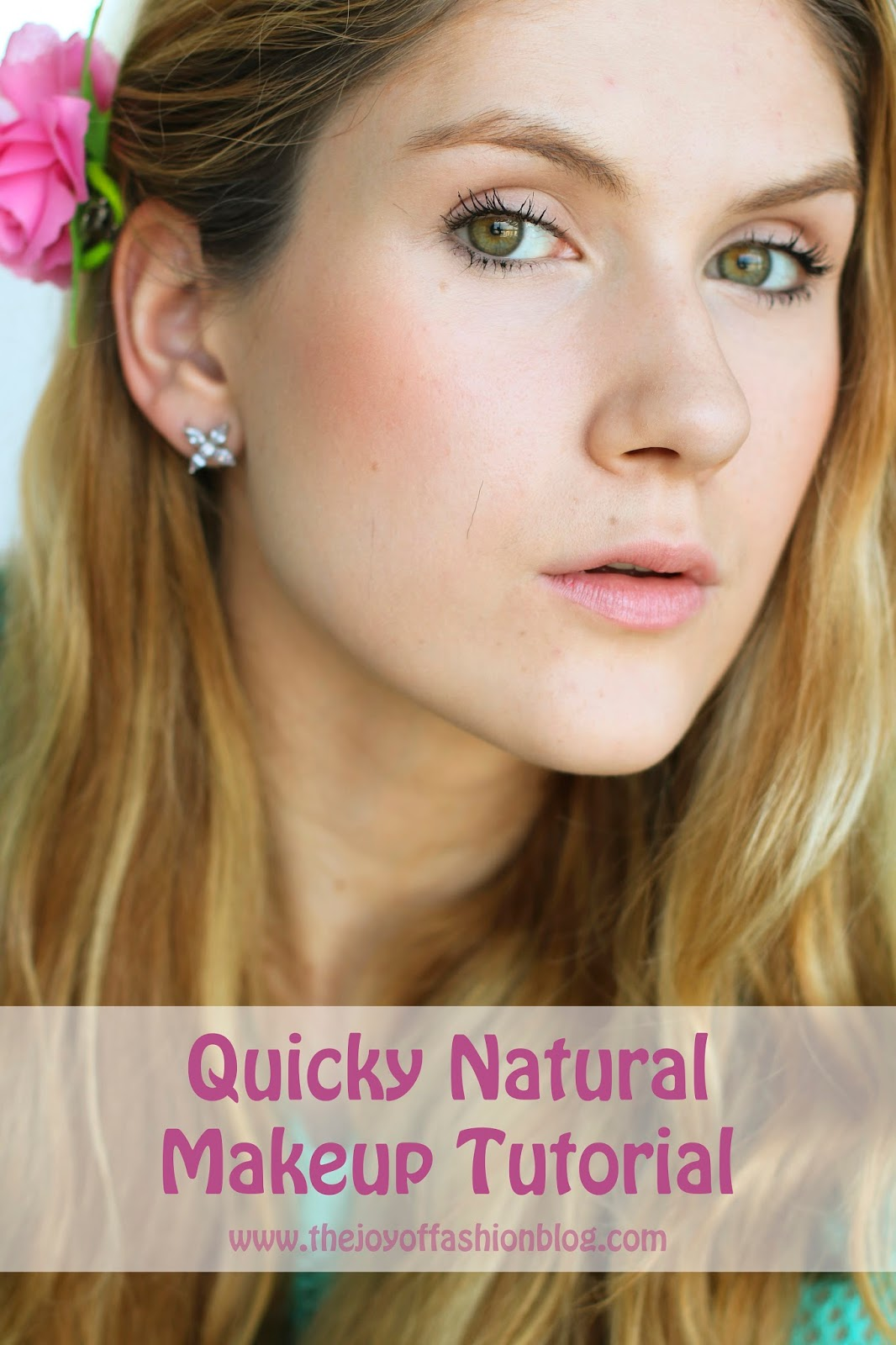 Click through for a quick and easy natural makeup tutorial!