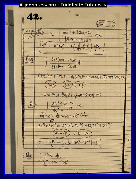 indefinite integrals cbse5