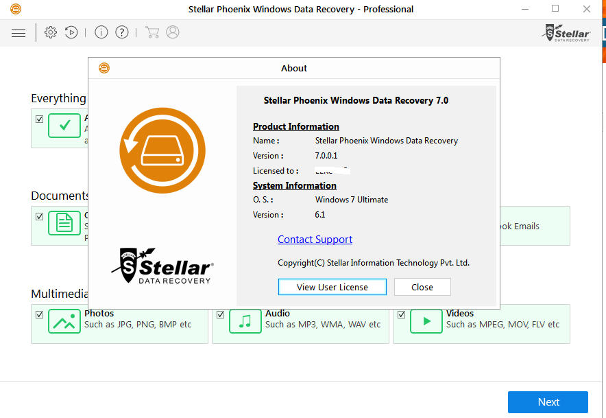 stellar data recovery professional 8 registration key