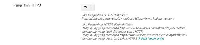Cara Memasang HTTPS Gratis Untuk Custom Domain Blogger