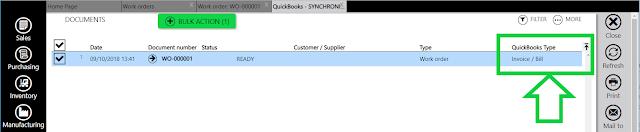 QuickBooks Online Manufacturing