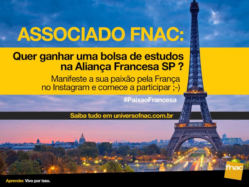 Associado FNAC pode ganhar bolsa de estudos na Aliança Francesa
