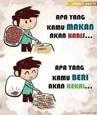 salam jumaat, apa yang kamu makan akan habis, kebaikan bersedekah, amalan bersedekah