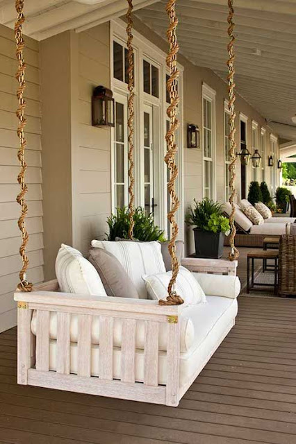A Creative Day Front Porch Plans Bed Swing Design