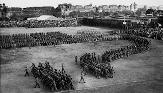 Image of the first Indian republic day celebrations in 1950.